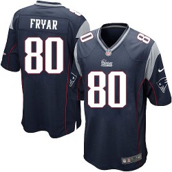 New England Patriots Irving Fryar Official Nike Navy Blue Game Adult Home NFL Jersey