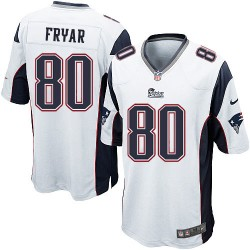 New England Patriots Irving Fryar Official Nike White Game Adult Road NFL Jersey