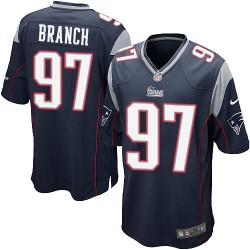 New England Patriots Alan Branch Official Nike Navy Blue Game Adult Home NFL Jersey