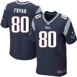 New England Patriots Irving Fryar Official Nike Navy Blue Elite Adult Home NFL Jersey