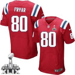 New England Patriots Irving Fryar Official Nike Red Elite Adult Alternate Super Bowl XLIX NFL Jersey