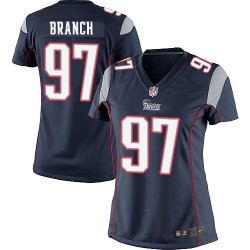 New England Patriots Alan Branch Official Nike Navy Blue Elite Women's Home NFL Jersey