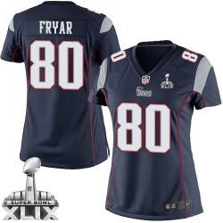 New England Patriots Irving Fryar Official Nike Navy Blue Elite Women's Home Super Bowl XLIX NFL Jersey