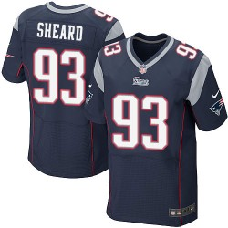 New England Patriots Jabaal Sheard Official Nike Navy Blue Elite Adult Home NFL Jersey