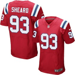 New England Patriots Jabaal Sheard Official Nike Red Elite Adult Alternate NFL Jersey
