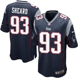 New England Patriots Jabaal Sheard Official Nike Navy Blue Game Adult Home NFL Jersey