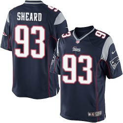 New England Patriots Jabaal Sheard Official Nike Navy Blue Elite Youth Home NFL Jersey