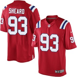 New England Patriots Jabaal Sheard Official Nike Red Elite Youth Alternate NFL Jersey