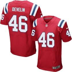 New England Patriots James Develin Official Nike Red Elite Adult Alternate NFL Jersey