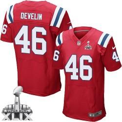 New England Patriots James Develin Official Nike Red Elite Adult Alternate Super Bowl XLIX NFL Jersey