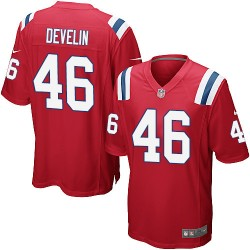 New England Patriots James Develin Official Nike Red Game Adult Alternate NFL Jersey