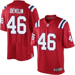 New England Patriots James Develin Official Nike Red Limited Adult Alternate NFL Jersey