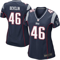 New England Patriots James Develin Official Nike Navy Blue Game Women's Home NFL Jersey