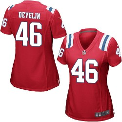 New England Patriots James Develin Official Nike Red Game Women's Alternate NFL Jersey