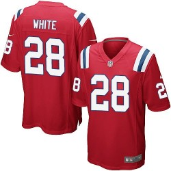 New England Patriots James White Official Nike White Game Adult Red Alternate NFL Jersey