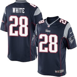 New England Patriots James White Official Nike Navy Blue Limited Adult Home NFL Jersey