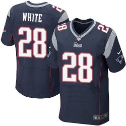 New England Patriots James White Official Nike Navy Blue Elite Adult Home NFL Jersey