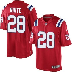 New England Patriots James White Official Nike White Limited Adult Red Alternate NFL Jersey