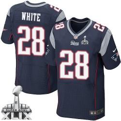 New England Patriots James White Official Nike Navy Blue Elite Adult Home Super Bowl XLIX NFL Jersey