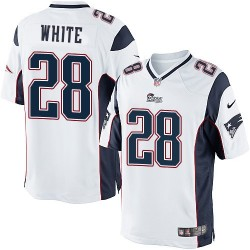 New England Patriots James White Official Nike White Limited Adult Road NFL Jersey