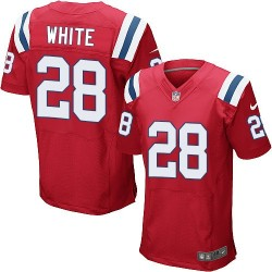New England Patriots James White Official Nike White Elite Adult Red Alternate NFL Jersey