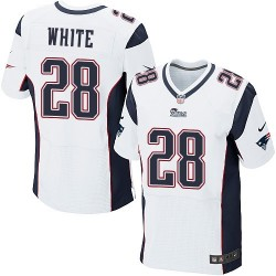 New England Patriots James White Official Nike White Elite Adult Road NFL Jersey