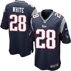 New England Patriots James White Official Nike Navy Blue Game Adult Home NFL Jersey