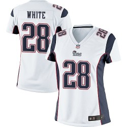 New England Patriots James White Official Nike White Elite Women's Road NFL Jersey