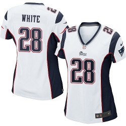 New England Patriots James White Official Nike White Game Women's Road NFL Jersey