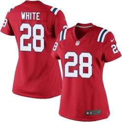 New England Patriots James White Official Nike White Limited Women's Red Alternate NFL Jersey