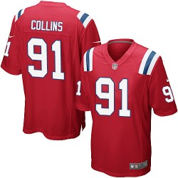 New England Patriots Jamie Collins Official Nike Red Game Adult Alternate NFL Jersey